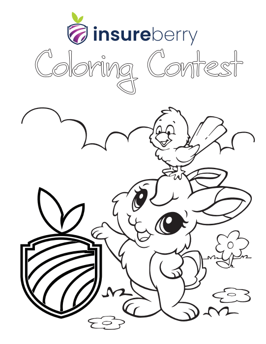 Insureberry Coloring Contest